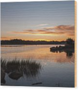 The Brink - Pawcatuck River Sunrise Wood Print