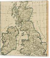 The British Isles Wood Print