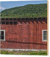 The Broadside Of A Barn Wood Print