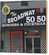 The Broadway 50 50 Wood Print