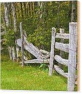 The Broken Barracade Wood Print
