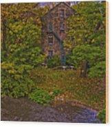 The Bronx River Stone Mill Wood Print