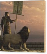The Bronze Knight Of The Isle Of Lions Wood Print