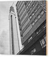 the BT tower and millennium apartments building Birmingham UK Wood Print