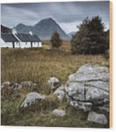 Blackrock And The Buachaille Wood Print