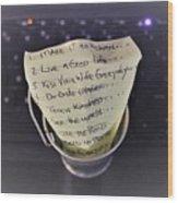 The Bucket List Wood Print