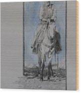 The Buckskin Colt Wood Print