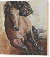 The Buckskin Gallop Wood Print