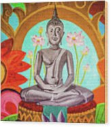 The Buddha Wood Print