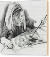 The Budding Artist Wood Print