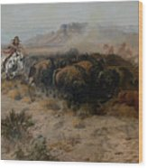 The Buffalo Hunt Wood Print