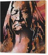 The Buffalo Hunter Wood Print