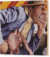 The Buffoon And The Countryman Wood Print by Denny Bond