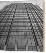 The Building Wood Print