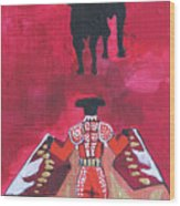 The Bull Fight  No.1 Wood Print