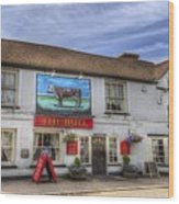 The Bull Pub Theydon Bois Panorama Wood Print