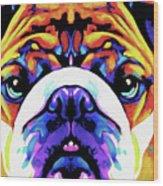 The Bulldog By Nixo Wood Print