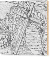 The Burden Endured Wood Print