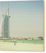 The Burj Al Arab Wood Print