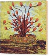 The Burning Bush Wood Print