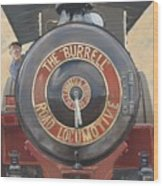 The Burrell Road Locomotive Wood Print