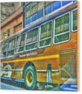The Bus Wood Print