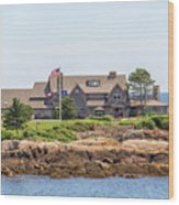 The Bush Family Compound On Walkers Point Wood Print