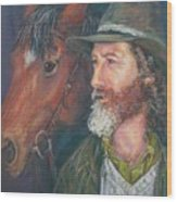 The Bushman Wood Print