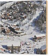 The Busy Chaudanne In Meribel The Heart Of Meribel In The Three Valleys Resort France Wood Print