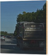 The Busy Highway Wood Print