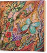 The Butterflies On Wind Wood Print