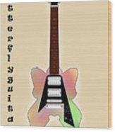 The Butterfly Guitar Wood Print