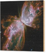 The Butterfly Nebula Wood Print