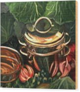 The Cabbage Pot Wood Print