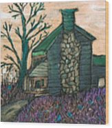 The Cabin 2 Wood Print