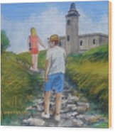 The Cabo Rojo Light House In Puerto Rico Wood Print