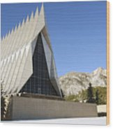 The Cadet Chapel At The U.s. Air Force Wood Print