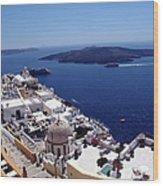 The Caldera, Santorini Wood Print