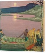 The Call Of The Sea Wood Print by Frederick Cayley Robinson