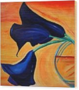 The Calla Lilies Wood Print