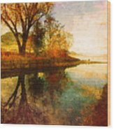 The Calm By The Creek Wood Print
