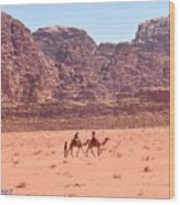 The Camel Riders Wood Print