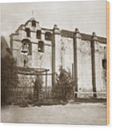 The Campanario, Or Bell Tower Of San Gabriel Mission Circa 1880 Wood Print