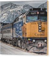The Canadian - Via 6411 Wood Print
