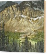 The Canadian Rockies Wood Print