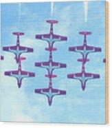 The Canadian Snowbirds Wood Print