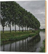 The Canal Wood Print