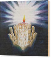 The Candle Of The Lord Wood Print