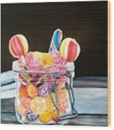 The Candy Jar Wood Print