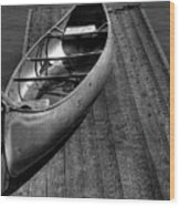The Canoe Wood Print by David Patterson